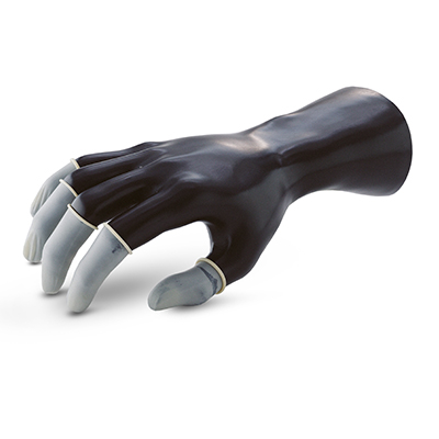 ถุงนิ้วยางสีเนื้อ Powder free Finger Cots (L)