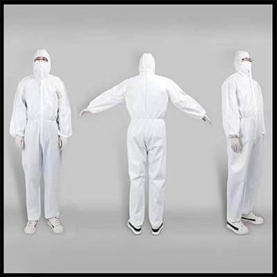 ชุด Coverall Disposable isolation clothing