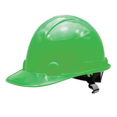 หมวกนิรภัย M-Flexi สีเขียว สายรัดคางยางยืด (บรรจุ 1 ใบ)