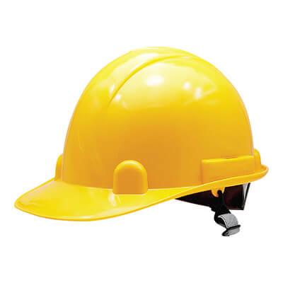 หมวกนิรภัย M-Flexi สีเหลือง สายรัดคางยางยืด (บรรจุ 1 ใบ)