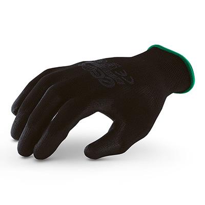 ถุงมือถักเคลือบพียูสีดำ รุ่น MICROTEX®️ ECO PU Black [M] (บรรจุ 1 คู่)