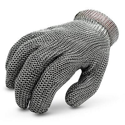 ถุงมือสแตนเลส แยก 5 นิ้ว Stainless Steel Gloves Size. M