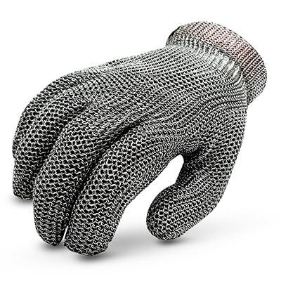 ถุงมือสแตนเลส แยก 5 นิ้ว Stainless Steel Gloves Size. L