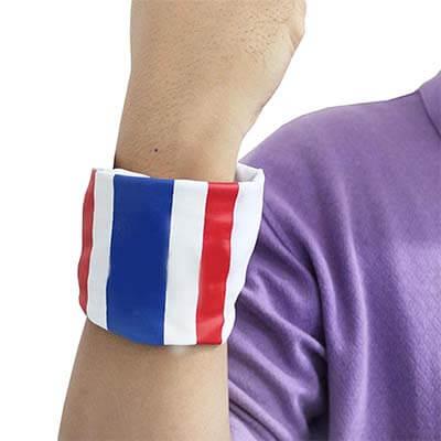 ผ้าโพกหัวลายธงชาติ สีขาว (บรรจุ 1 ผืน)