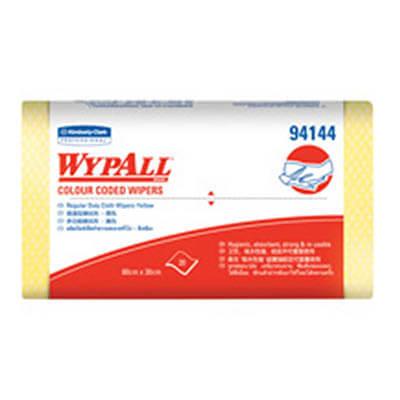 ผ้าเช็ดอเนกประสงค์ WYPALL* Colour Coded Regular Duty Wipers [สีเหลือง] (บรรจุ 20 ชิ้น)