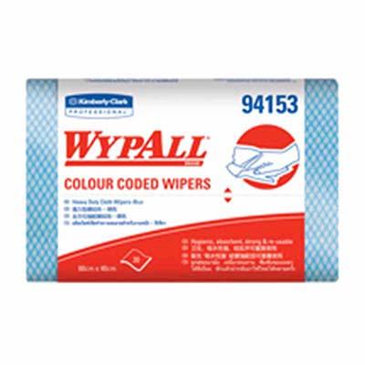 ผ้าเช็ดอเนกประสงค์ WYPALL* Colour Coded Regular Duty Wipers [สีฟ้า] (บรรจุ 20 ชิ้น)