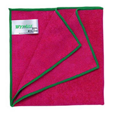 ผ้าไมโครไฟเบอร์ WYPALL* Microfiber Cloths with MICROBAN® Protection [สีแดง] (บรรจุ 6 ผืน)