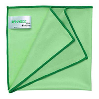 ผ้าไมโครไฟเบอร์ WYPALL* Microfiber Cloths with MICROBAN® Protection [สีเขียว] (บรรจุ 6 ผืน)