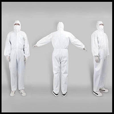 ชุด Coverall Disposable isolation clothing (บรรจุ 1 ชุด)