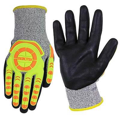 ถุงมือกันกระแทกเคลือบไนไตร รุ่น MICROTEX® IMPACT HI-CUT Size. M