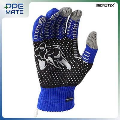 ถุงมือทัชสกรีนกันลื่น รุ่น MICROTEX® SPEED3 สีน้ำเงิน ส่งฟรี
