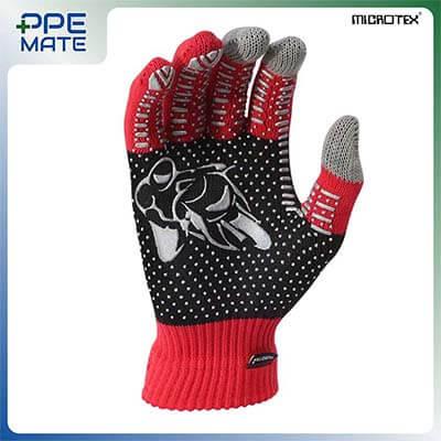 ถุงมือทัชสกรีนกันลื่น รุ่น MICROTEX® SPEED3 สีแดง ส่งฟรี