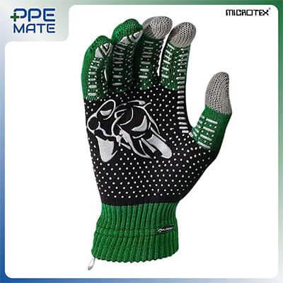ถุงมือทัชสกรีนกันลื่น รุ่น MICROTEX® SPEED3 สีเขียว ส่งฟรี