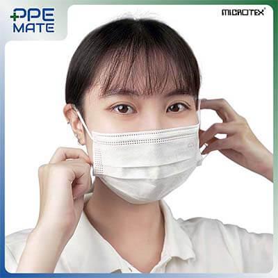 หน้ากากอนามัย 3 ชั้น รุ่น MICROTEX® Face Mask Spunbond 3 ply สีขาว