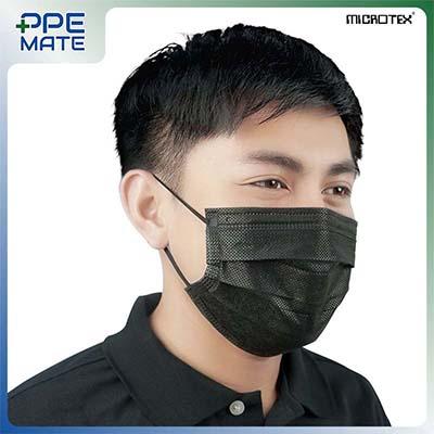 หน้ากากอนามัย 3 ชั้น รุ่น MICROTEX® Face Mask Spunbond 3 ply สีดำ