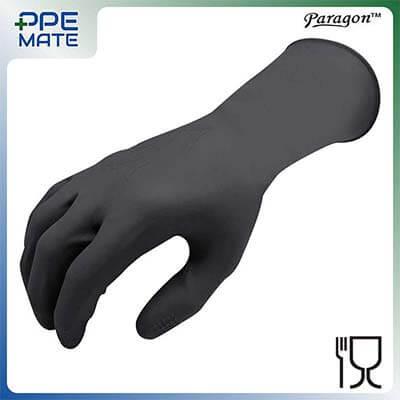 ถุงมือยาง PARAGON หนา 13 Mil. สีดำ Size. M