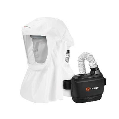 ชุดปกป้องทางเดินหายใจแบบจ่ายอากาศบริสุทธิ์ (ชุด PAPR) TECMEN รุ่น Freflow V1+TM-H2 Hood