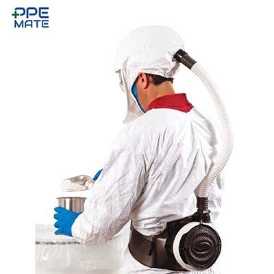 ชุด PAPR ชุดอุปกรณ์ป้องกันทางเดินหายใจแบบจ่ายอากาศบริสุทธิ์
