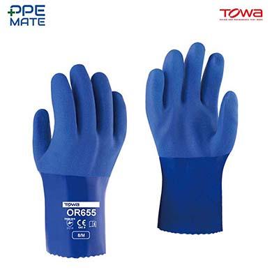 TOWA OR655 ถุงมือยาง PVC