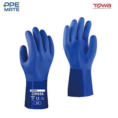 TOWA OR656 ถุงมือยาง PVC