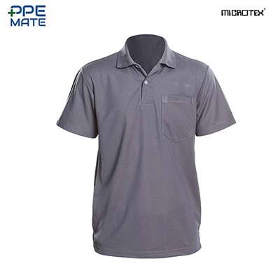 MICROTEX DryMax เสื้อโปโลแขนปล่อยคอปกผู้ชาย สีเทา