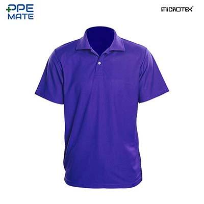 MICROTEX DryMax เสื้อโปโลแขนปล่อยคอปกผู้ชาย สีม่วง