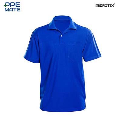 MICROTEX DryMax เสื้อโปโลแขนปล่อยคอปกผู้ชาย สีน้ำเงิน