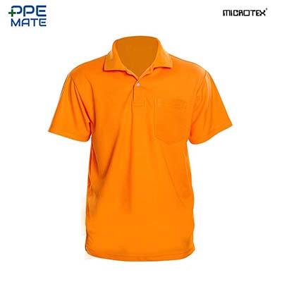 MICROTEX DryMax เสื้อโปโลแขนปล่อยคอปกผู้ชาย สีส้ม