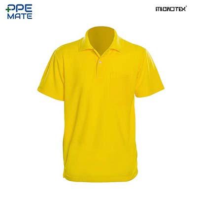 MICROTEX DryMax เสื้อโปโลแขนปล่อยคอปกผู้ชาย สีเหลือง